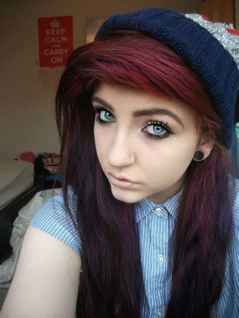 emo hairstyles burgundy burgundy red hair exact color i want and i