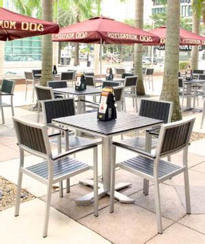 commercial patio chairs weather resistant patio furniture for restaurants