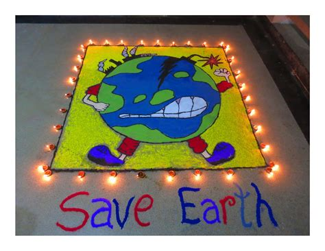 rangoli themes for global warming the gallery for gt rangoli designs with theme of save earth