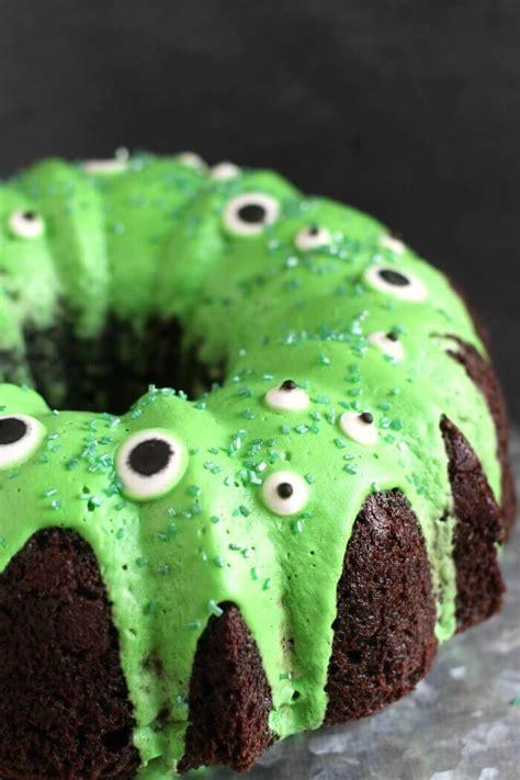 monster bundt cake     simple monster cake