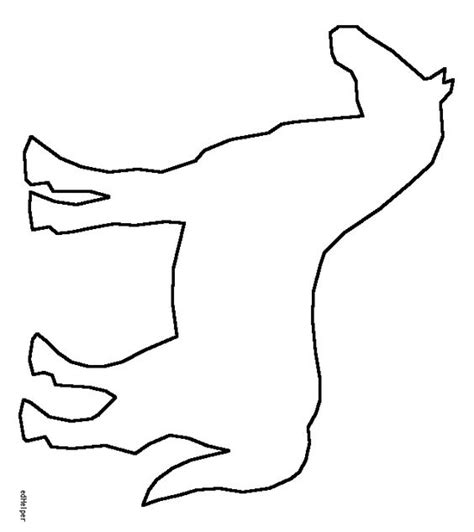 horse head template printable clipart best