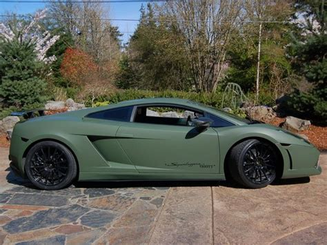 lamborghini superleggerra matte army green wraps around the world colors
