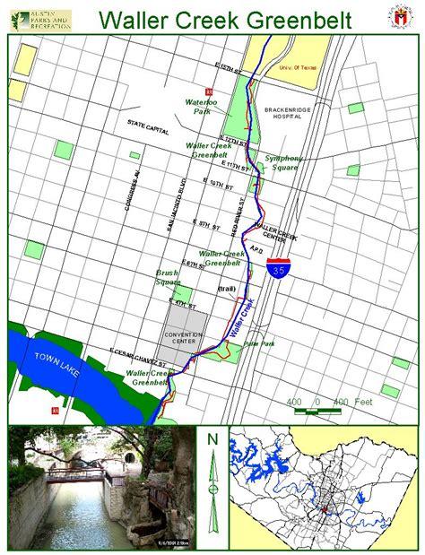 waller texas map waller creek greenbelt map 703 e 6th st mappery