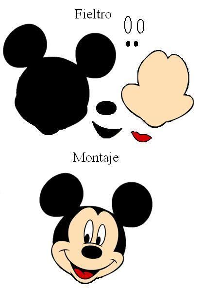 Moldes De Mickey En Goma Eva Imagui | moldes de la cara de mickey mouse en goma eva imagui