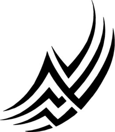 tattoo tribal lines design vector free download