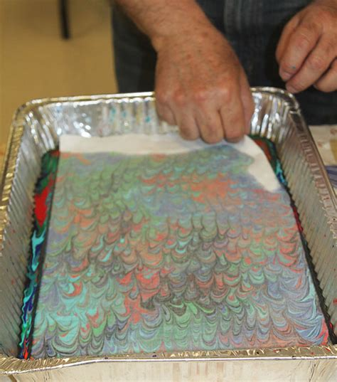 Painting Upholstery With Acrylic Paint by Marbling With Acrylic Paint On Fabric The Working