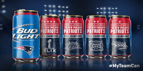 bud light superbowl cans coming soon patriots budlight bowl series cans