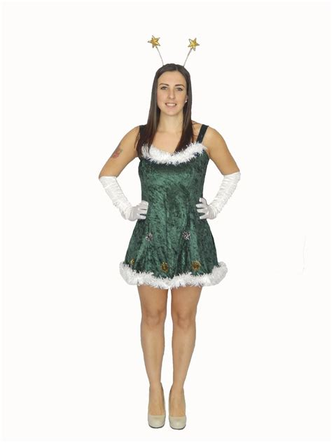 sexy christmas tree costume nativity party festive fancy
