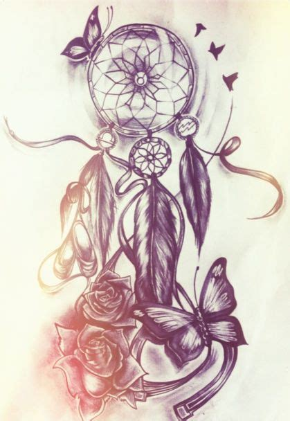 dream catcher and butterfly tattoo tattoos piercings