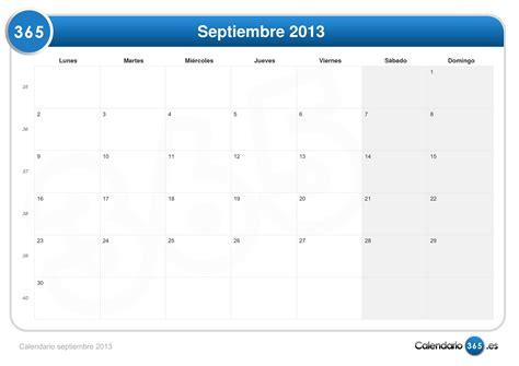 Calendario Septiembre Calendario Septiembre 2013