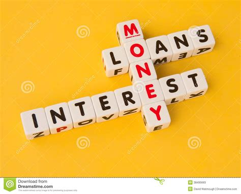 Loan Letters Crossword money loans and interest stock image image of background