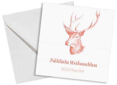 Paketaufkleber Drucken Ohne Porto by Weihnachtskarte Quot Pure Deer Quot Postkarte Mit Logo