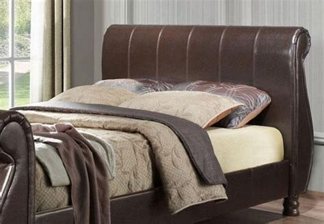Marseille Bed Frame Birlea Marseille Faux Leather Sleigh Bed Frame Best Price