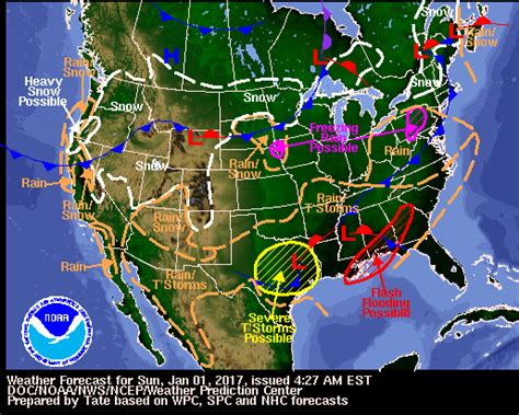 us weather map december wpc daily forecast map archive