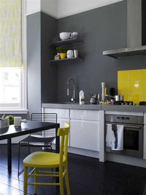 grey white yellow kitchen grey walls in kitchen with yellow accent house