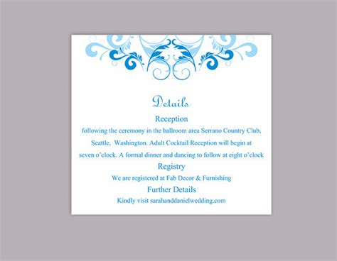 Wedding Information Card Template Accommodation Cards Diy Wedding Information Card Template Call Anyone But The Free Template