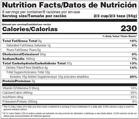 Nutrition Facts Label Maker Spanish Besto Blog Fda Nutrition Label Template