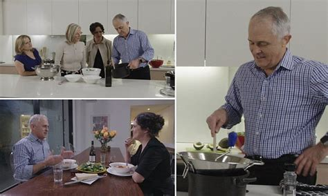 Kitchen Cabinet Malcolm Turnbull Malcolm Turnbull Prepares Gourmet Ravioli For Annabel Crabb S Kitchen Cabinet Daily Mail