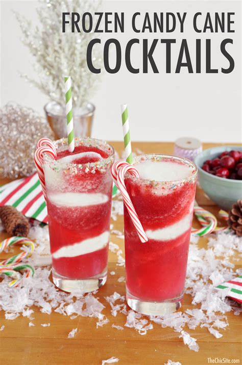 christmas cocktail drinks candy cane cocktail the chic site