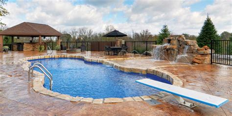 deep backyard pool in ground backyard pool and patio