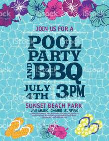 Pool Invitations Free Templates by Pool Invitation Template With Hibiscus Stock Vector