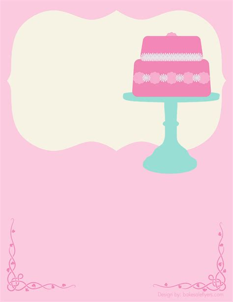 cupcake flyer templates free free bake sale flyer template cake could totally see customizing this for a baby bridal shower