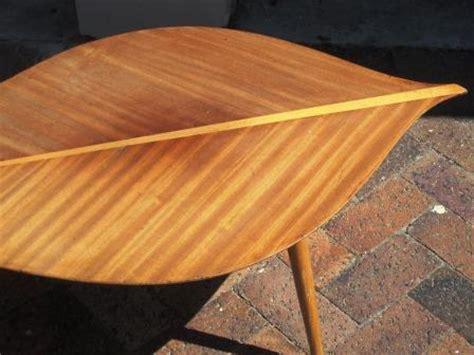 tables retro mid century banana leaf coffee table was