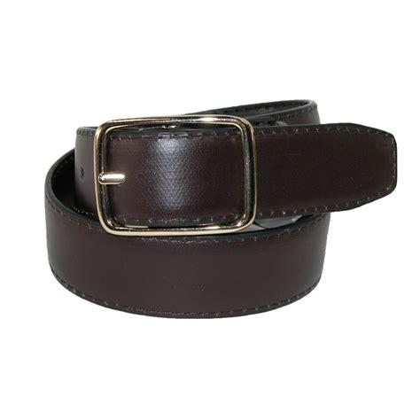 boys leather center bar reversible dress belt by aquarius
