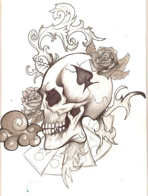 fantasy art tattoo designs skull by panda odono on deviantart