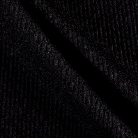black knit telio melange rib knit black discount designer fabric