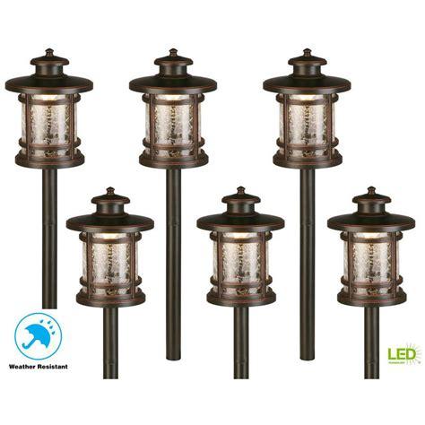 hampton bay  voltage  watt oil rubbed bronze outdoor