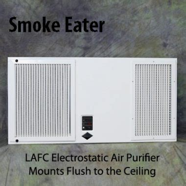 lafc electrostatic air purifier mounts flush to ceiling