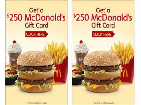 Where Can I Buy Mcdonalds Gift Cards - mcdonalds coupons mcdonalds coupons 2013 250 mcdonald s gift card us only youtube