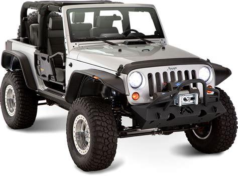 Jeep Jk Flat Fender Flares Bushwacker 10919 07 Flat Style Flares For 07 17 Jeep