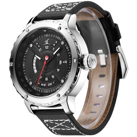 Jam Tangan Pria Black weide jam tangan sporty pria uv1609 black silver