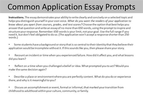 sle common app essay sle essay for admission 28 images college application