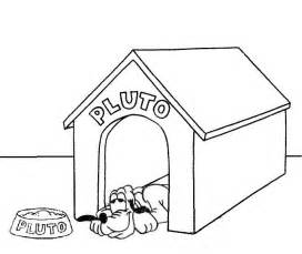 Pluto In Doghouse Coloring Pagejpg sketch template