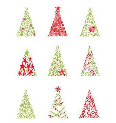 12 vector modern christmas images modern christmas tree