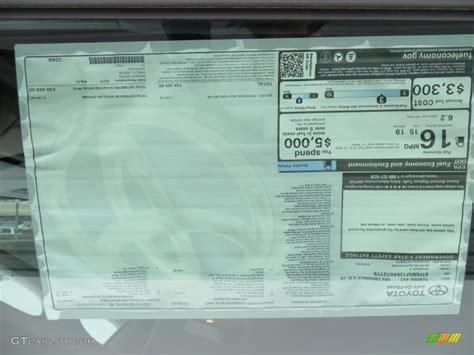 Toyota Window Sticker By Vin Factory Window Sticker By Vin For Toyota Autos Post