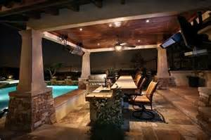 Ceiling Mounted Patio Heater Covered Outdoor Kitchen And Patio Attached To House Ideas