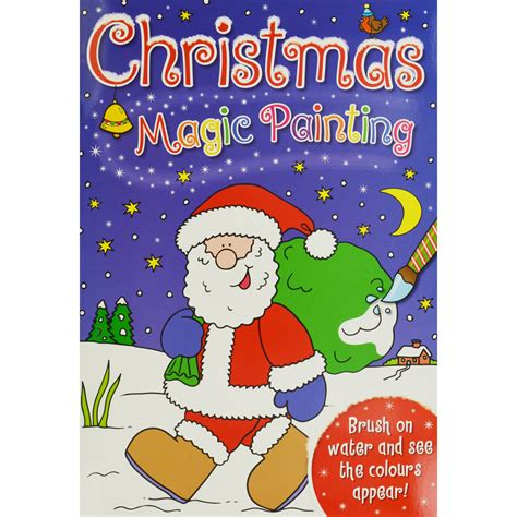 christmas magic painting book christmas magic painting assorted painting books at the works