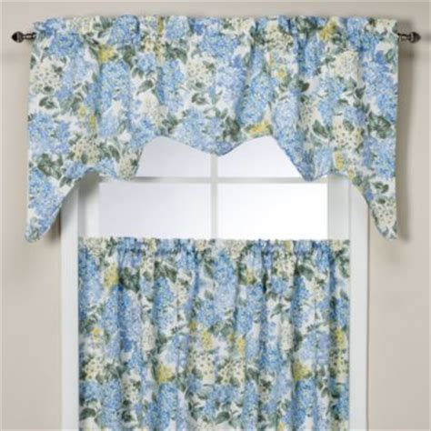 And Blue Valance Buy Blue And Yellow Valances From Bed Bath Beyond