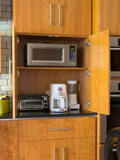 Kitchen Appliance Storage Cabinets Best Ways To Store More In Your Kitchen Appliance Garage Cabinets And Countertops