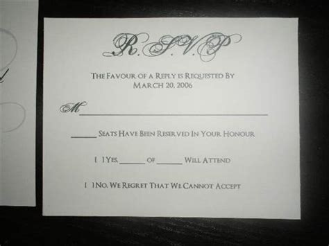 wedding guest rsvp card templates rsvp wording for guests who tend to bring along uninvited