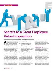 secrets to a great employee value proposition