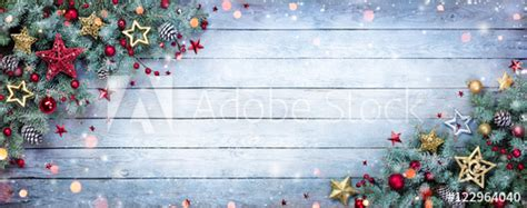 where to buy constructuve christmass wal paer fir tree with baubles and snowflakes on wooden background buy this stock photo and