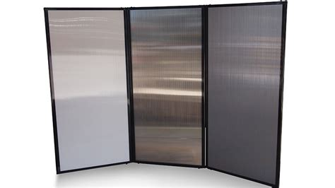 freestanding portable privacy screen polycarbonate