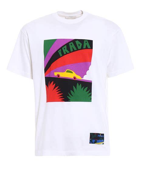 Printer Jersey car print jersey t shirt by prada t shirts ikrix