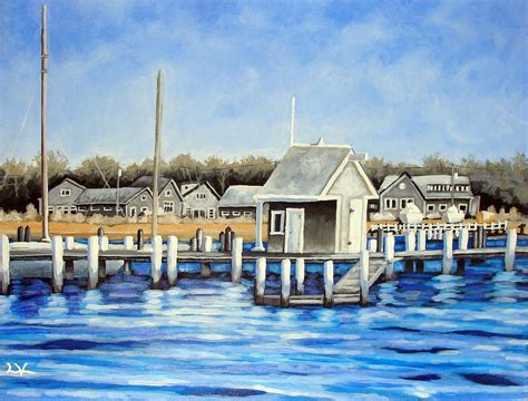 small boat house small boat house painting by matthew levier