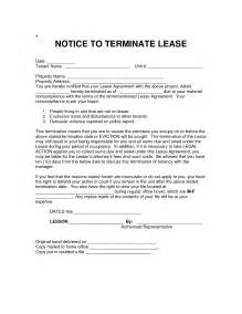Notice To Terminate Lease Agreement by Best Photos Of Lease Termination Notice Notice Of Lease Termination Letter Exle Sle